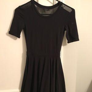 Aritzia black mini dress with mesh back